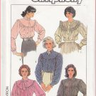 Vintage Simplicity Sewing Pattern 8301 Size 14-20 Misses' Long Sleeve Blouses Yoke Collar Buttons