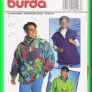 Burda Sewing Pattern 4203 One Sz Men's Women's Unisex Fleece Pullover Jacket Vest Casual Sporty Fun
