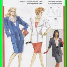 Burda Sewing Pattern 5366 Size 10-18 Misses' Skirt Suit Coordinates Long Short Sleeve Jacket Skirt