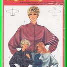 Burda Sewing Pattern 7143 Size 10-20 Misses' Retro Batwing Blouse Button Front Ascot Tie Cuffs  Chic