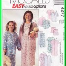McCall's Sewing Pattern 4277 Sz 2-6 Children's Pajamas Sleepwear Top Pants Shorts Nightshirt Unisex