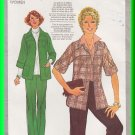 Vintage Simplicity Sewing Pattern 8250 Sz 40-46 Women's Retro Jacket Pants Topstitching Collar Yoke