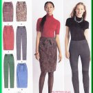 Simplicity 2315 Sewing Pattern Size 6-14 Misses' Slim Pant Straight Skirt Cigarette Trousers Pleats