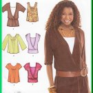 Simplicity 3790 Sewing Pattern Size 6-14 Misses' Knit Tops Poet Wrap Pleats Boho Hippy Chic Layered