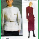 Vogue 2023 Sewing Pattern Sz 14-18 Misses' Military Jacket Coat Donna Karan New York Fitted 2 Length