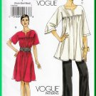 Vogue 8587 Sewing Pattern Size Xs-M Misses' Top Dress Pants Coordinates Poets Top Elastic Waistline