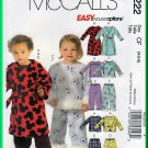 McCall's 5222 Sewing Pattern Sz 4-6 Children's Toddlers' Robe Sleepset Pant Top Robe Belt Loungewear