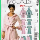 McCall's 5534 Sewing Pattern Sz 4-12 Misses' Sleepwear Nightshirt Hood Robe Short Long PJs Top Pants