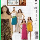 McCall's 6081 Sewing Pattern Sz 12-18 Misses' Dress Skirt Convertible Easy Strapless Halter Dresses