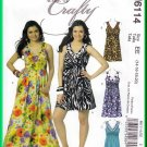 McCall's 6114 Sewing Pattern Sz 14-20 Misses' Dress Funky Beach Tropical Holidays Empire Bodice Cute