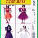 McCall's 6186 Sewing Pattern Sz 7-14 Girls' Costumes Fairy Angel Witch Devil Halloween Dressup Fancy