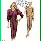Kwik Sew 1642 Vintage Sewing Pattern Sz XS-L Misses' Knit Dress Jumper Retro 80s Pullover Sweatdress