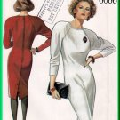 New Look 6066 Vintage Sewing Pattern Sz 8-18 Misses' Dress Classic Slim 80s Sheath Raglan Shoulders