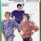 Burda 6117 Vintage Sewing Pattern Sz 10-40 Misses' Tops Retro 80s Baggy Asymmetrical Shoulder Pleats