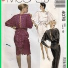 McCall's 4076 Vintage Sewing Pattern Sz 10 Misses Glam Jumpsuit Dress Avant Garde 80s Cummerbund Bow