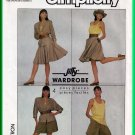Simplicity 8424 Vintage Sewing Pattern Sz 6-10 Misses' Casual Suit 80s Jacket Shorts Full Skirt Cami