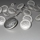 Silver Tone Hammered Look Metal Buttons Liberty Head for Coats Jackets Sewing Crafts Hobbies Jewelry