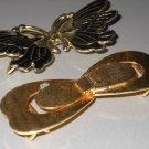 Gold Tone Belt Buckles Butterflies Buckles 80s Retro DIY Elastic Self Fabric Belt Sewing Clothing
