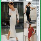 McCall's 6779 CUT Sewing Pattern Sz 12 Misses' Chic Boxy Bolero Evening Dress Gown Sweetheart Neck