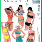 McCall's 9352 CUT Sewing Pattern Sz 12 Misses' Two Piece Swimsuits Bikini Swimwear Sarong Wrap Skirt