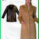 Vogue 9752 CUT Sewing Pattern Sz M (12-14) Misses' Blazer Coat Notched Collar Tailored Winter Coat