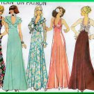 Simplicity 7229 CUT Vintage Sewing Pattern Sz 12 Misses' Long Evening Halter Dress Ruffles Jacket