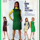 Simplicity 7270 CUT Vintage Sewing Pattern Sz 12 Girls' Jumper Dress Gathered Yoke Pocket Flaps 60s