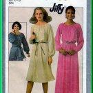 Simplicity 8265 CUT Vintage Sewing Pattern Sz S Misses' Peasant Dress Gathered Neck Elastic Sleeves