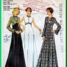 CUT Vintage Style 1313 Sewing Pattern Sz 18.5 Misses' Elegant Evening Gown Empire Bodice Hi Neckslit