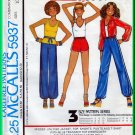 McCall's 5937 CUT Vintage Sewing Pattern Sz 14 Misses' Casual Jacket Top Shorts Pants T-shirt 70s