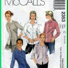 McCall's 2353 CUT Sewing Pattern Sz 10 Misses' Button Front Shirt Casual Button Blouse Collar Cuffs