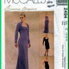 McCall's 2494 CUT Sewing Pattern Sz 10 Misses' Strapless Evening Gown Fishtail Boning Shrug Bolero