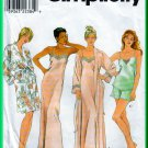 Simplicity 8480 CUT Sewing Pattern Sz 12 Misses' Sleepwear Lounge Wear Camisole Long Slip Robe Short