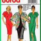 Burda 4117 Sewing Pattern Sz 12-24 Misses' Long Evening Dress Cocktail Elegant Cocoon Jacket Pleats