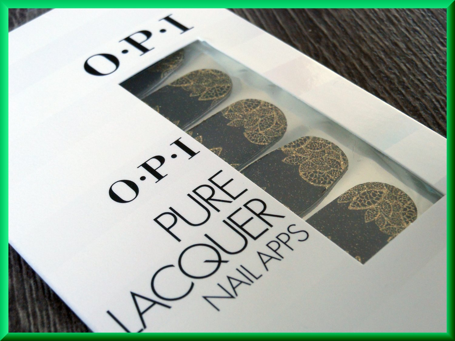 OPI Nail Polish Stickers Gold Lace AP111 Fancy Glitter Leaves Sparkle Pattern Real Lacquer