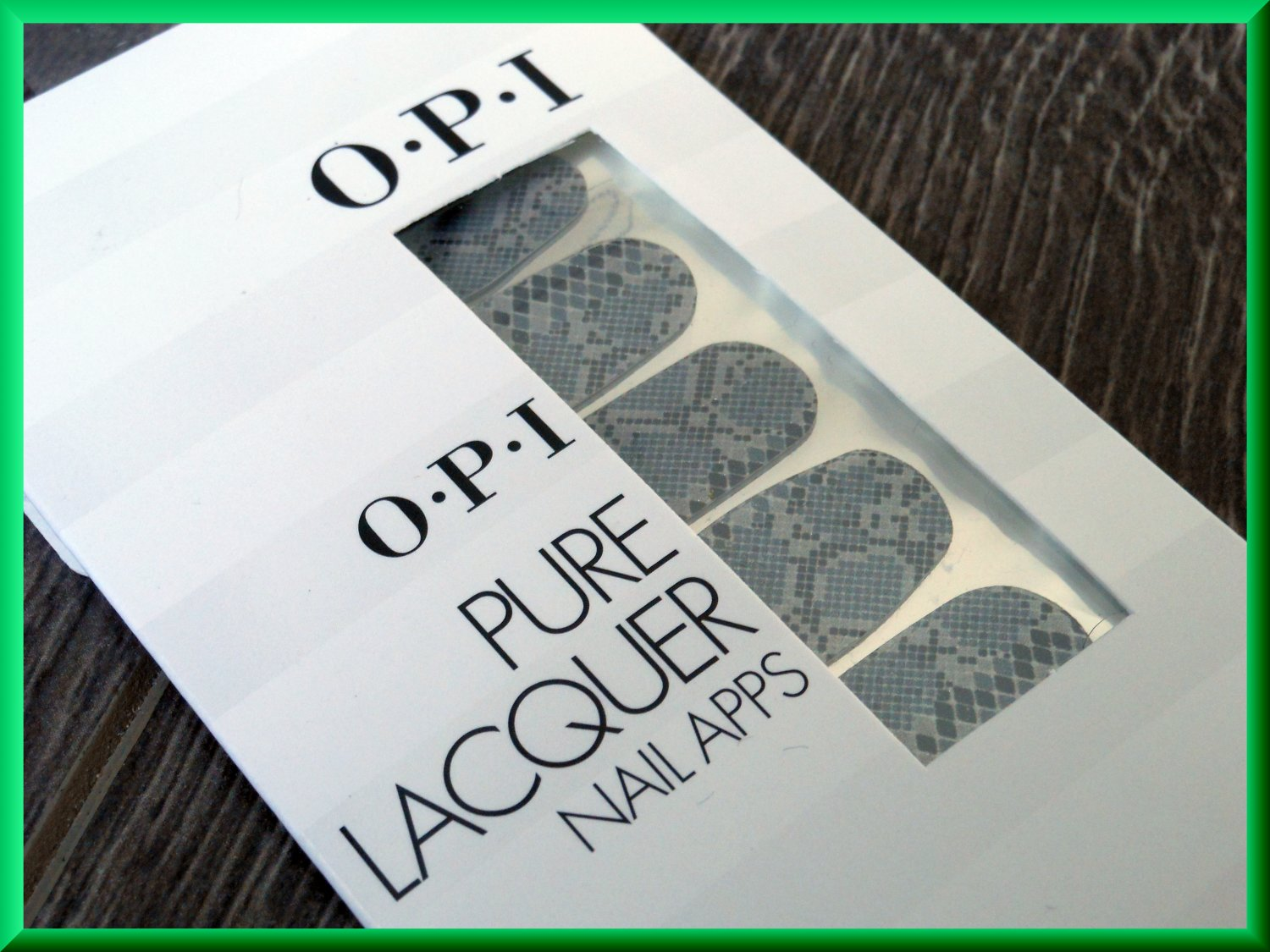 OPI Nail Polish Stickers Black Grey Rattlesnake AP100 Sexy Snake Python Cobra Pattern Real Lacquer