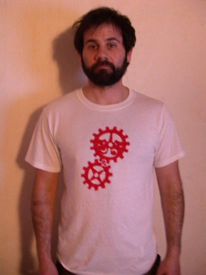 Standard Tee - White/Red