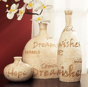 Hopes Dreams Wishes Stone Vases