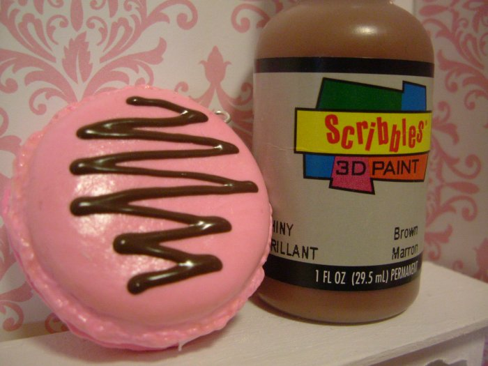 Brown Chocolate Sauce 3D Paint for Deco Miniature Sweets
