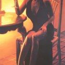 CARRIE GRABER ELEGANT LADY IN BLACK dress HS# CANVAS