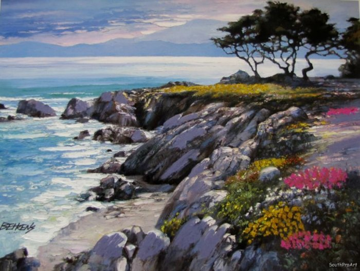 MONTEREY HOWARD BEHRENS EMBELLISHED CANVAS California