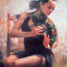 MICHAEL VINCENT SPANISH DANCER royo HS#  EMBELL CANVAS