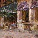 LEONARD WREN CAFE BRASSERIE PARIS FRANCE EMBELL CANVAS
