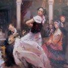 DAENI PINO SEVILLE tango Spain EMBELLISH CANVAS Dance