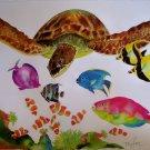 WYLAND~SOMETHING FISHEE~sea turtle fish HS# CANVAS COA