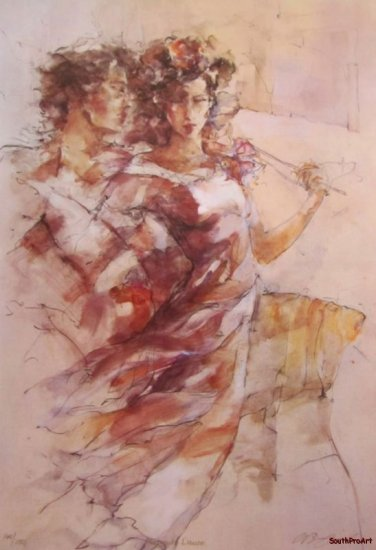 GARY BENFIELD HEAVENLY DANCE Treby HS&# English CANVAS