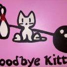 TODD GOLDMAN  BYE KITTY ORIGINA PAINTING bowling cat