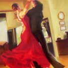 CARRIE GRABER FLAIR ballroom dance tango HS# CANVAS COA