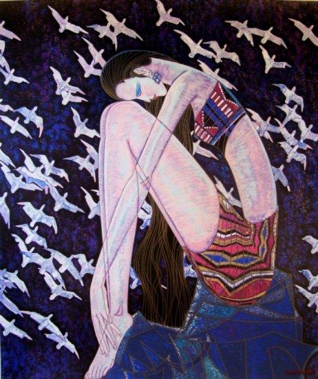 TING SHAO KUANG ECHOES Birds Blue Stork HS&# China AP
