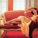 CARRIE GRABER~RECLINING READ~nude book sexy HS# CANVAS
